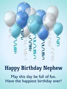 Happy birthday dear nephew