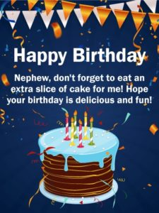 Happy birthday lovely nephew