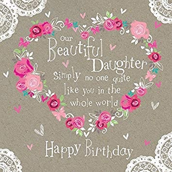 happy birthday brilliant daughter