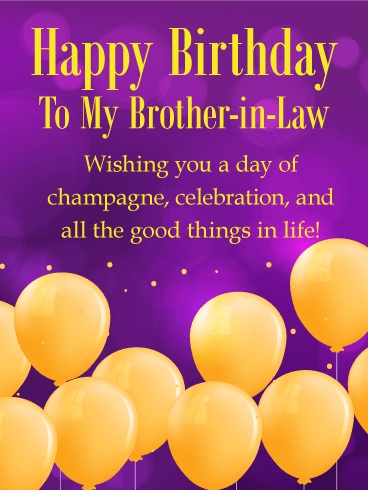 happy birthday dear brother in law