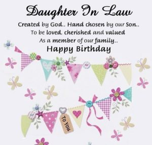 happy birthday dear daughter in law