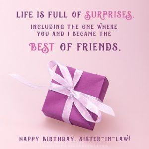 happy birthday fantastic sister in law