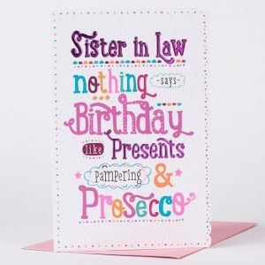 happy birthday pampered sister in law