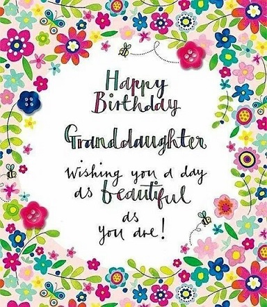 happy birthday to you cute granddaughter