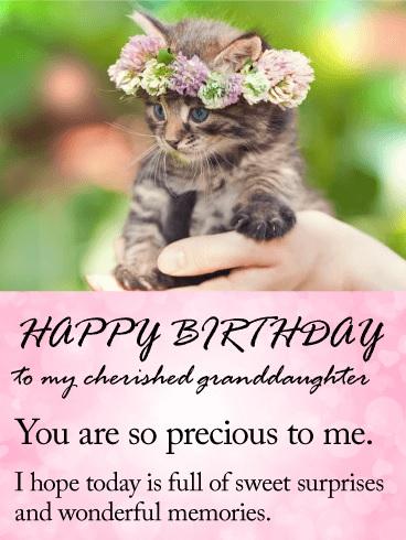 happy birthday to you precious granddaughter