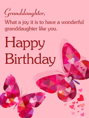 happy birthday to you wonderful granddaughter
