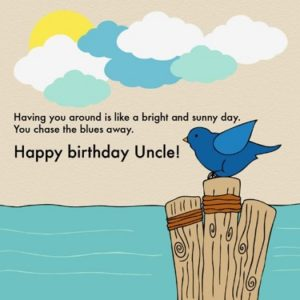 Happy birthday beauty uncle