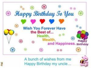 Happy birthday beloved uncle