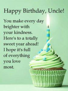 Happy birthday generous uncle