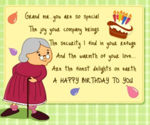Happy birthday to you appreciate grandmother