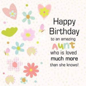 happy birthday amazing aunt