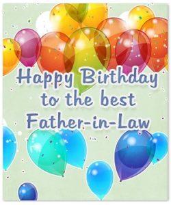 happy birthday dear father in law