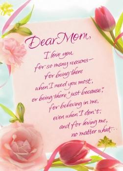 happy birthday loving mom