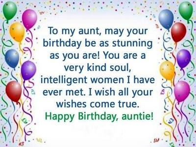 happy birthday stunning aunt