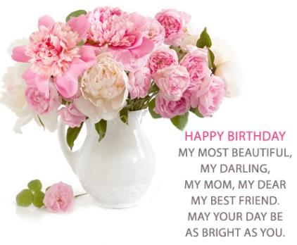 happy birthday wonderful mom