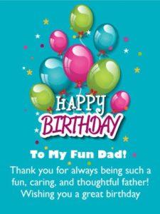Happy birthday fun dad