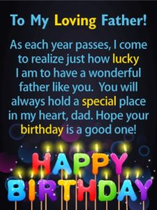 Happy birthday lovely father