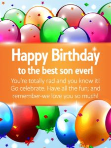 happy birthday dear son
