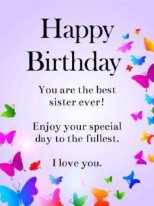 happy birthday fun sister
