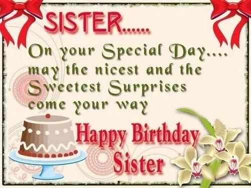happy birthday sweet sister