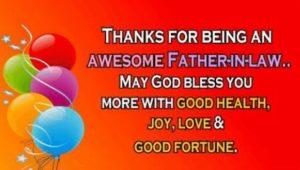 Dear father in law birthday