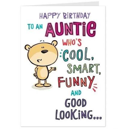 happy birthday genius aunt