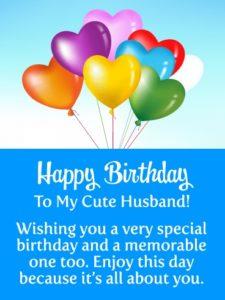 happy birthday cute husband