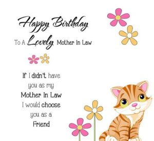 happy birthday lovely mother in law
