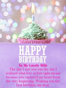 Happy birthday generous wife