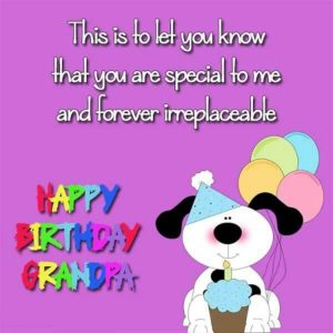 happy birthday irreplaceable grandfather