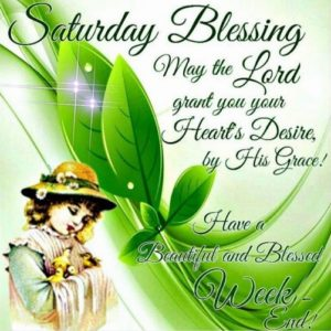 wish you a blessing saturday