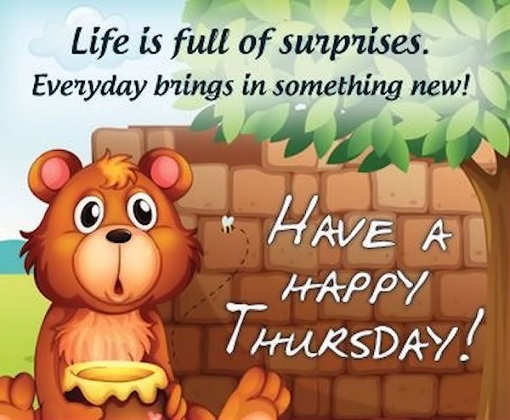 wish you a happy thursday