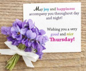 wish you a wonderful thursday