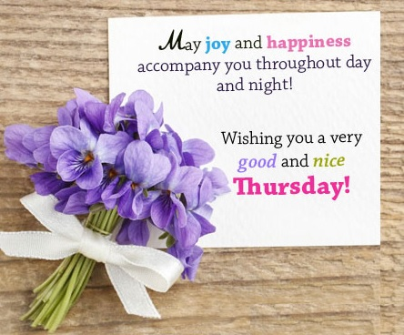 wish you a wonderful thursday