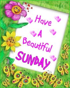 have a wonderful sunday