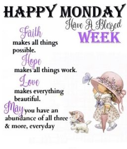 wish you a lovely monday