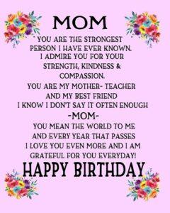 happy birthday confident mom
